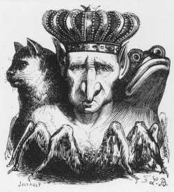 The Dictionnaire Infernal illustration of Baal.